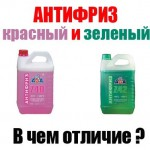 антифриз зеленый или красный