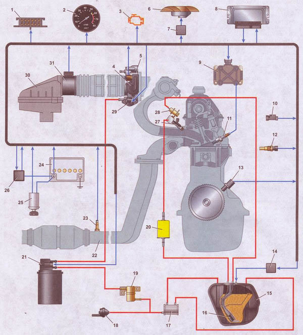 схема ваз 21074 инжектор