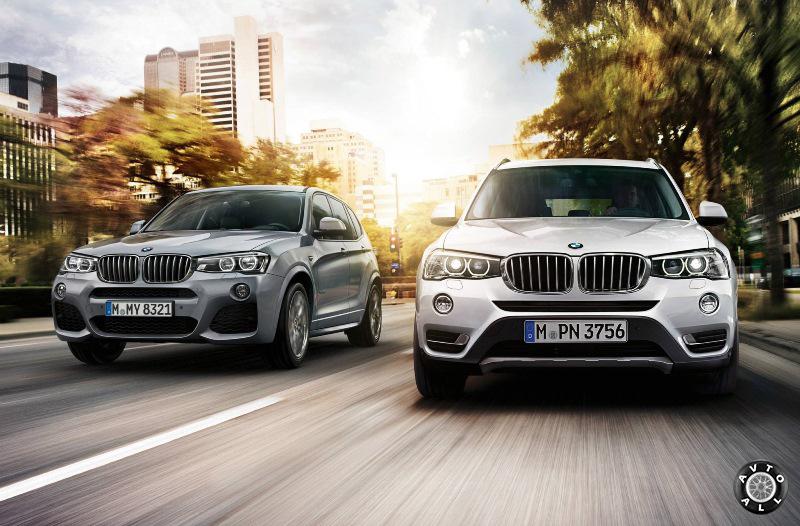 BMW X3 2014 рестайлинг