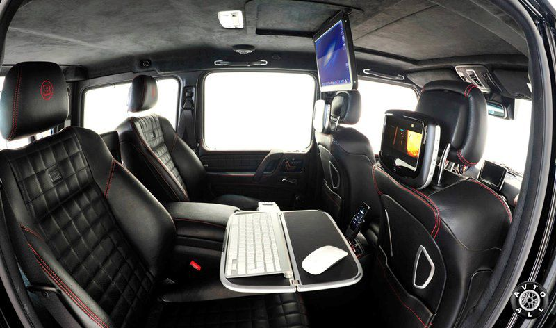 Тюнинг салона Mercedes-Benz G 65 AMG от Brabus 800 iBusiness