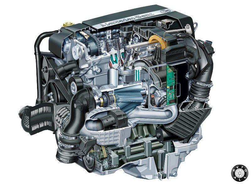 Mercedes-Benz W203 бензиновый двигатель