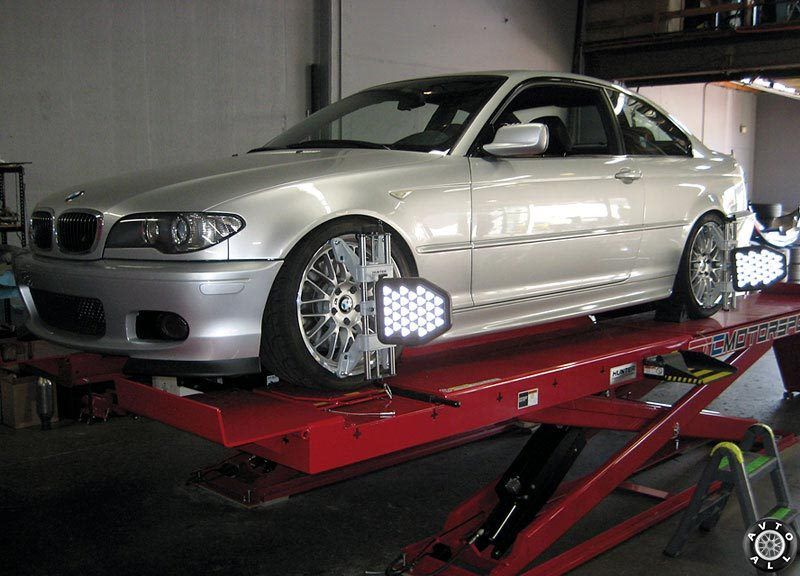 BMW 3 Е46 проверка развал вхождения
