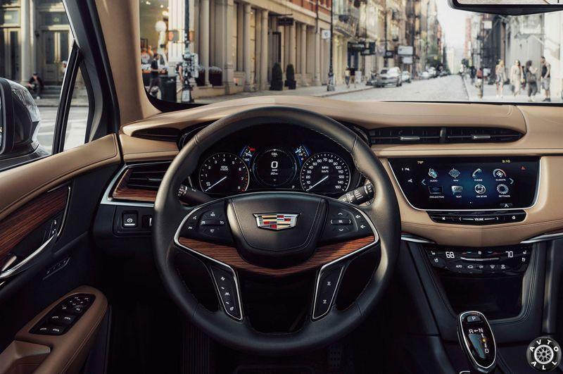 Cadillac XT5 дизайн салона