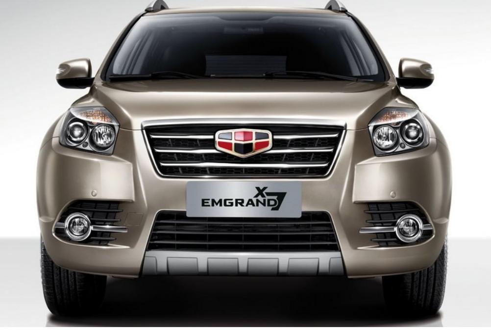 Китайцы опубликовали фото рестайлингового Geely Emgrand X7