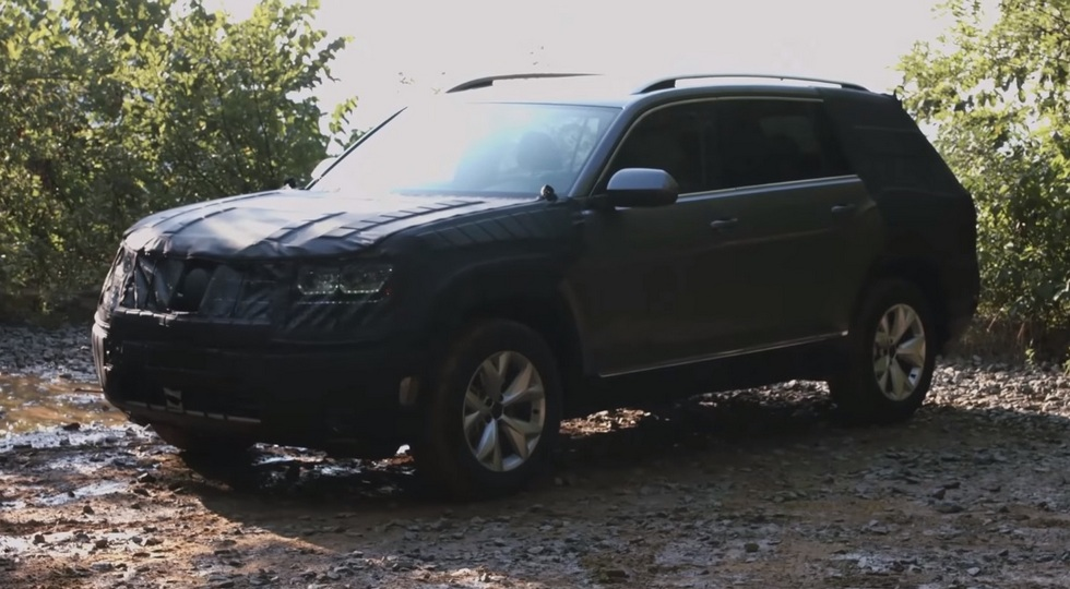Новый кроссовер Volkswagen Teramont  тестируют в американских условиях