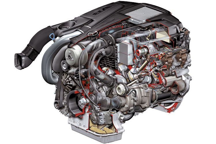 Двигатель Mercedes SL V8