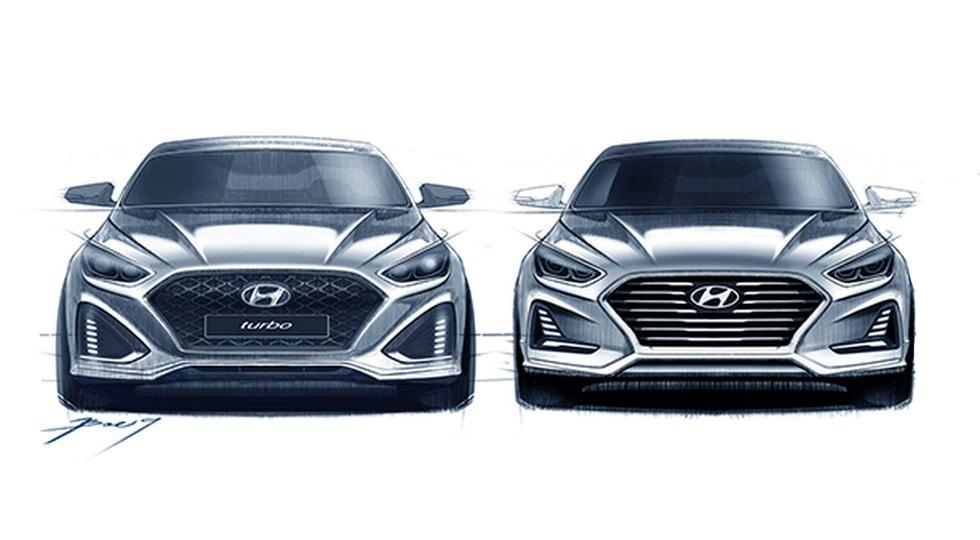 Корейцы опубликовали первые тизеры рестайлингового седана Hyundai Sonata