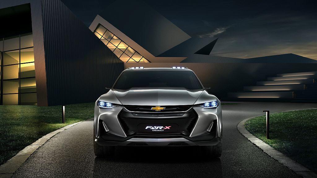 В поисках новых путей Chevrolet показал под занавес Шанхайского мотор-шоу концепт гибридного кроссовера FNR-X