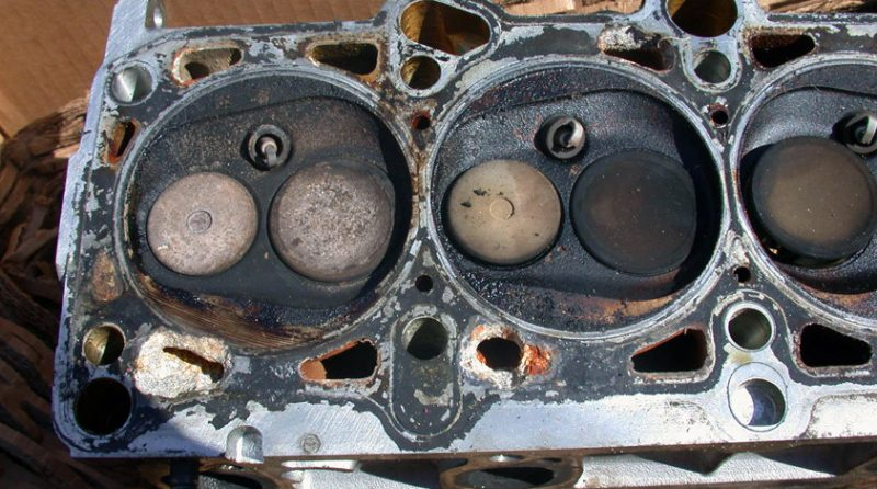 перегретый двигатель
