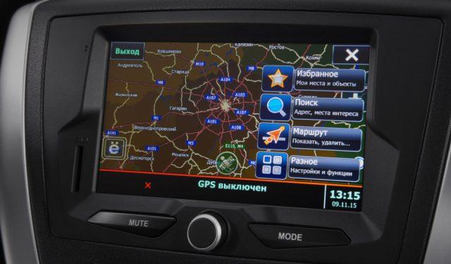 Навигационная система в Ладе Гранте