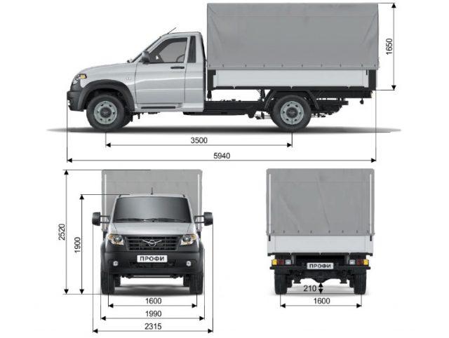 Технические характеристики УАЗ Профи