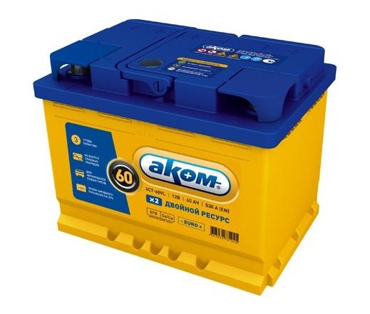 Автомобильный аккумулятор Akom Standart (6CT-600LA)