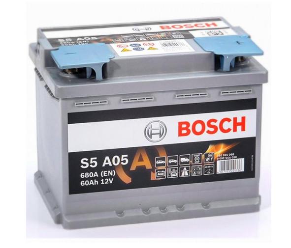 Автомобильный аккумулятор Bosch AGM 55 (A05)