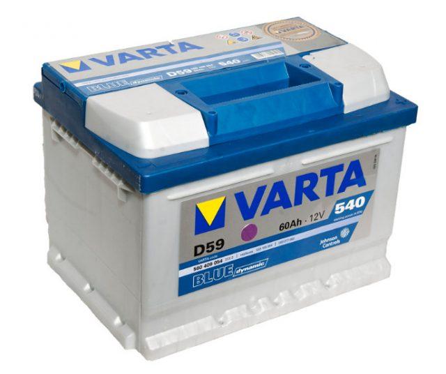 Автомобильный аккумулятор Varta D59 Blue Dynamic