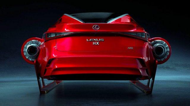 Lexus HX Sleigh (вид сзади)
