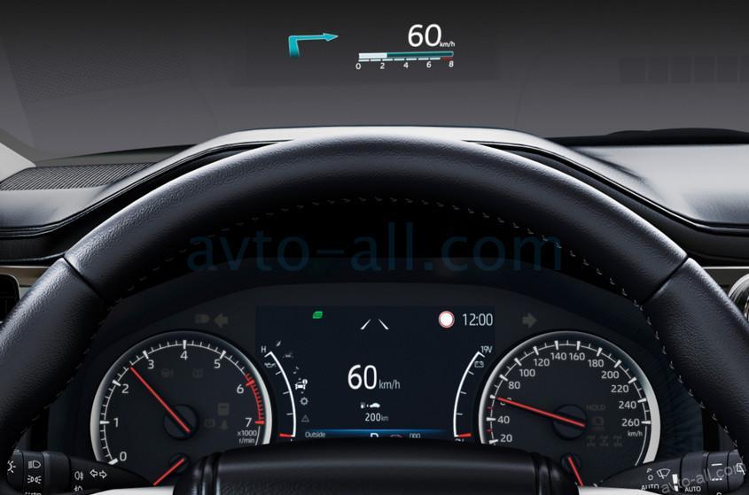 Проекция приборной панели на лобовое стекло Land Cruiser 300
