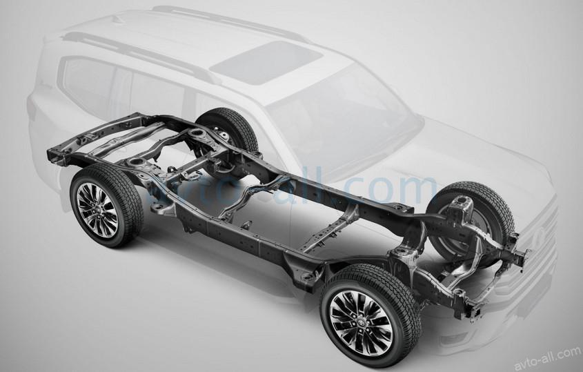 Новая рама Toyota Land Cruiser 300